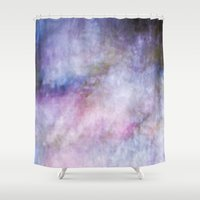 cosmos Shower Curtains featuring Cosmos by Angela Fanton