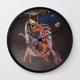 Goldfish Bubbles Wall Clock