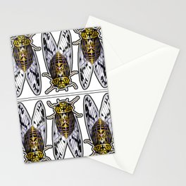 Amber Cicadas Stationery Cards