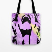 scream Tote Bags featuring Scream by Katerina Gold