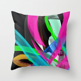 Flow Back Throw Pillow