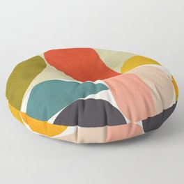 shapes of mid century geometry art Floor Pillow