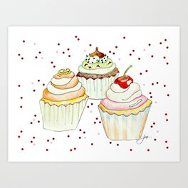 Sprinkles Bakery Art Print