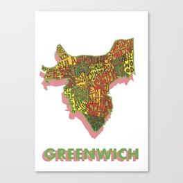 Greenwich - London Borough Canvas Print