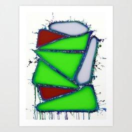 Green sail Art Print