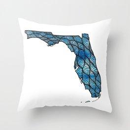 Florida Blue Throw Pillow