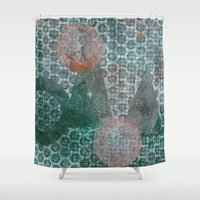 geometry Shower Curtains featuring Geometry by Sandra Hedicke Clark