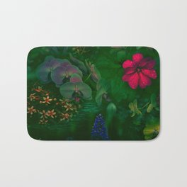 Gathering of Flowers - [Green Version] Bath Mat