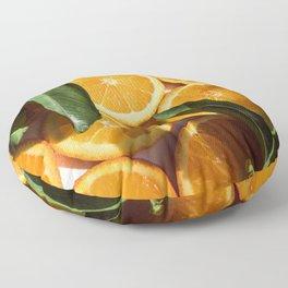 Orange Fruit Pattern Photography Floor Pillow