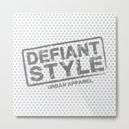Defiant Style Logo  [Gray] Metal Print