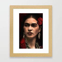 Frida Kahlo Portrait Framed Art Print
