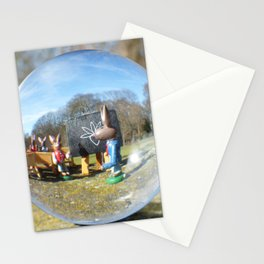 Easter Bunny school, Glass Ball Photography Stationery Cards