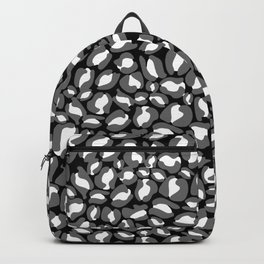 Leopard Print | black and white monochrome | Cheetah texture pattern Backpack