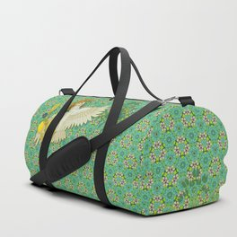Hoopoe Parrot and Citrus Duffle Bag