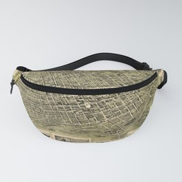 Map Of Alexandria 1862 Fanny Pack