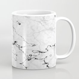 Marble White, Black and Gray Texture Abstract Photography Design Coffee Mug