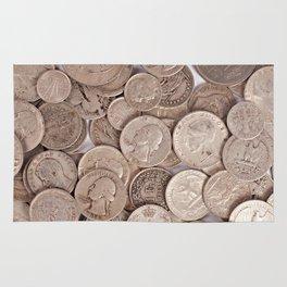 Silver Coins Collection Rug