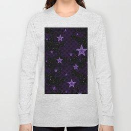 Purple Neon Stars Long Sleeve T-shirt
