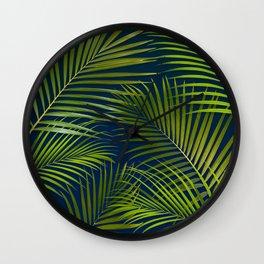 Palms on Royal Blue Wall Clock