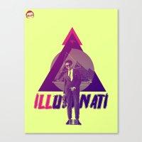 illuminati Canvas Prints featuring ILLuminati by Jimi Thompson
