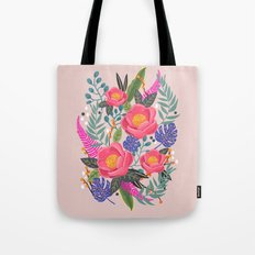 Romantic Blossom, flower print, floral print Tote Bag