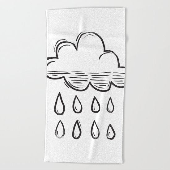 Rain cloud Beach Towel