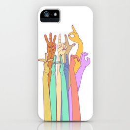 Wild Thing Hand on White Alphabet Illustration iPhone Case
