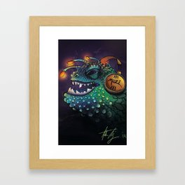 Mozi Monster Framed Art Print