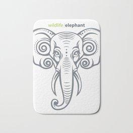 elephant head Bath Mat