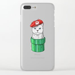 Meow Bro 1 Clear iPhone Case