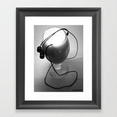 White noise Framed Art Print