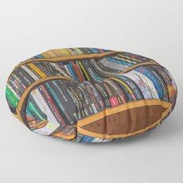 Bookshelf Books Library Bookworm Reading Pattern Floor Pillow