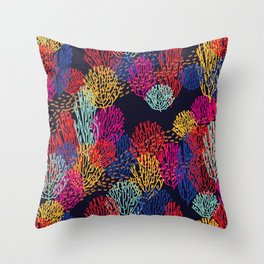Deep Sea Coral Throw Pillow