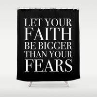 faith Shower Curtains featuring Faith by eARTh