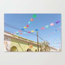 Party Flags in Mexico Canvas Print