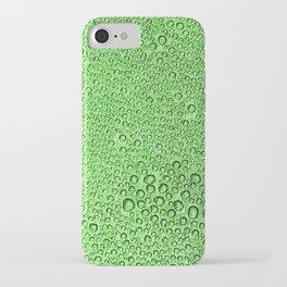 Water Condensation 05 Green iPhone Case
