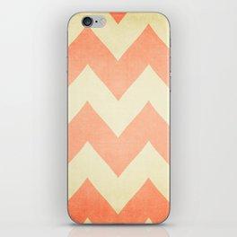 Fuzzy Navel - Peach Chevron iPhone Skin