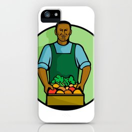 African American Green Grocer Greengrocer Mascot iPhone Case