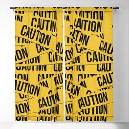 Caution Blackout Curtain