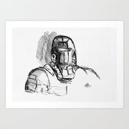 Warbot Sketch #067 Art Print