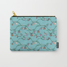 Holiday cheer soft blue Carry-All Pouch
