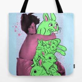 Bunny Pile Tote Bag