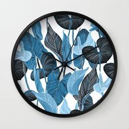 Lush Lily - chambray Wall Clock