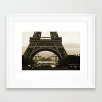 eiffel Framed Art Prints featuring Eiffel by Shannon McCullough-Wight