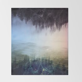 flipped forest Throw Blanket
