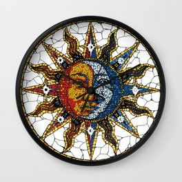 Celestial Mosaic Sun and Moon COASTER Wall Clock
