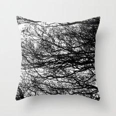 Shadow Trees Throw Pillow