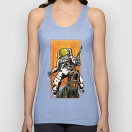 Angry Astronaut Unisex Tank Top