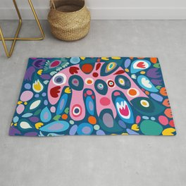 Abstract Art Joyful Multicolor Positive Energy  Rug