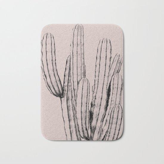 Pink cactus print Bath Mat